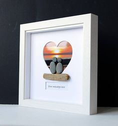 Framed Pebble Art Pebble Lovers Stone People Pebble