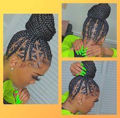Feed In Braids Hairstyles, Braids Hairstyles Pictures, Black Girl Braided Hairstyles, Braided Ponytail Hairstyles, Baddie Hairstyles, Weave Hairstyles, Vintage Hairstyles, Curly Hair Styles, Natural Hair Styles