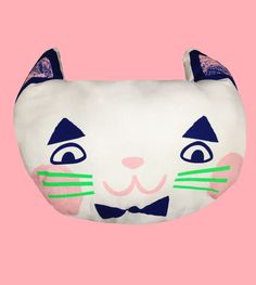 Meow face cat cushion from Beneath the Sun