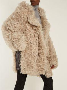 Acne Studios Lune oversized shearling coat at MATCHESFASHION.COM