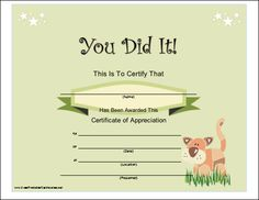 ... certificates, Printable certificates and Free printable certificates