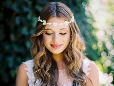 Beautiful! Floral Rhinestone Halo Headpiece Envogue HJ1742 - Affordable Elegance Bridal -