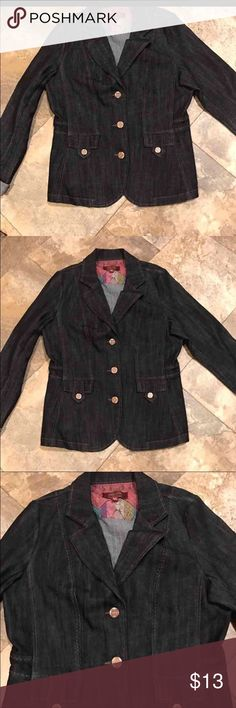 Jean jacket new with out tags size medium New with out tags size medium jean jacket. Never worn   Let's bundle !  15% off on ANY two items purchased AND shipped together.  20% off ANY three items purchased AND shipped together! Jackets & Coats Jean Jackets