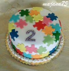 Cake puzzle Birthday Cake, Puzzle, Desserts, Food, Tailgate Desserts, Puzzles, Deserts, Birthday Cakes, Essen