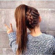 How to do: Bend forward so you're facing the ground and your hair is all infront of you. •Begin to French braid up. •Once you've reached the top, pull your hair into a ponytail.
