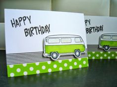 VW Birthday Card Volkswagen Lover Card by apaperaffaire on Etsy