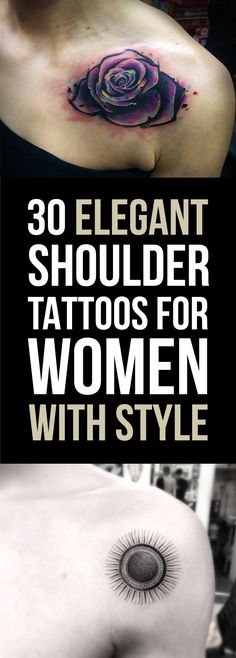 30 Elegant Shoulder Tattoos For Women   TattooBlend