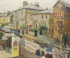 Carel Weight RA, CBE - Elsinge Road, Battersea 1970 is available for sale at Castlegate House Gallery. Urban Life, Urban Art, Infinite Art, London Painting, Cityscape Art, Royal College Of Art, European Paintings, London Art, Landscape Paintings