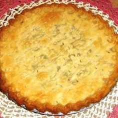 Funeral Pie (Raisin Pie) ~ Gets its name from the fact that it is often taken to the family of those grieving over a passing by the Amish, Mennonites and Pennsylvania Dutch ~  Allrecipes.com
