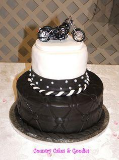 Harley Davidson Groom's Cake by CountryCakes, via Flickr