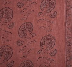 Prints @ Michael S Smith Inc Indian Flower indigo on red