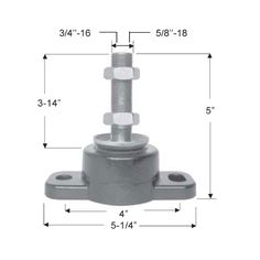 Engine Mount  Flexible engine mount manufactured in steel and vulcanized neoprene.  Ref. GS38122 Bolt: 5/8'' – 16 Bolt Max load: 135 kg – 300 lb. R.O. 35852 Ref. GS38105 Bolt: 3/4'' – 19 Bolt Max load: 135 kg – 300 lb. R.O. 814263A1  Order Now: http://safeseamalta.com/product/engine-mount/