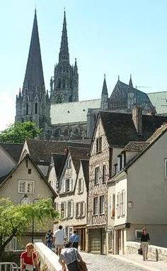 Chartres!!!! I have been here before!! Such a gorgeous little city outside Paris.