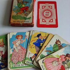 Vintage Snap Cards Chad Valley 1950's nursery rhymes