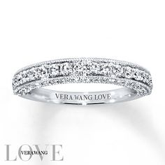 Vera Wang LOVE Wedding Band 3/4 ct tw Diamonds 14K White Gold
