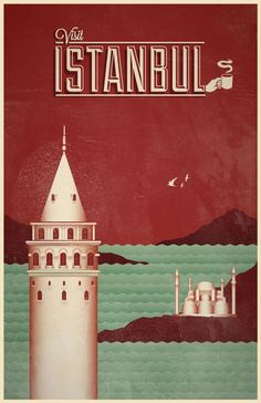 """Travel posters - Istanbul - via Creative Bloq  """"Preserve. Reserve. Serve ~ The life and times of Istanbul at the heart of historical center""""  www.armadaistanbul.com www.armadaistanbulculture.com"""