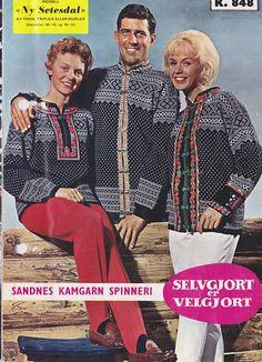Ny #Setesdal k 848 Stirrup Pants, Nye, Norway, Knitting Patterns, History, Retro, Coat, Sweaters, How To Wear