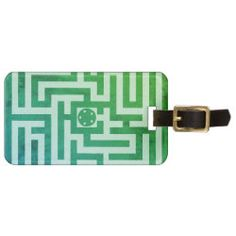 Luggage Tag MAZE OF HORSES green on white Cute Horses, Horse Love, Horse Show Mom, Horse Shirt, Luggage Straps, Custom Luggage Tags, Personalized Tags, Leather Luggage, Standard Business Card Size