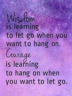 Wisdom vs. Courage