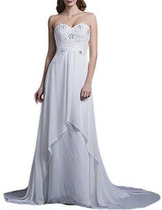 LovingDress Womens Wedding Dress Empire Waist Sweetheart Chiffon with Beading  Buy New: $7.99- $129.99(On sale from $300.99)
