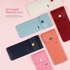 With Band Pencase Apply To Diary Planner Schedule Book Pen Pouch Case Holder