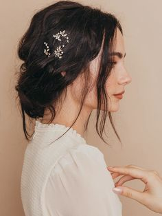 Hudson Crystal Hair Pins (Set of 2) - Wedding and Bridal Hair Pins – Olive + Piper