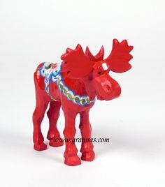A Swedish Moose, on the loose! #dalahäst #swedish #moose