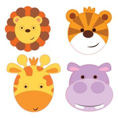 Jungle Friends Party Face Masks - Jungle Friends - Party Themes A-Z - Kids' Party
