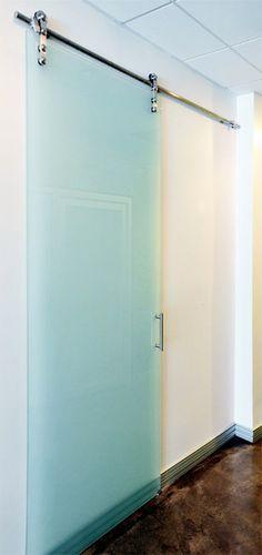 Forsted glass Barn Doors | Sliding Barn Door | Sliding Door Co.