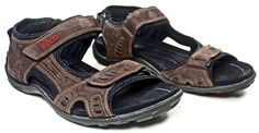 Men's ECCO Brown Leather Sport Sandals Shoes sz 11/11.5 ***VGC*** #ECCO #SportSandals