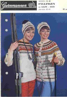 Fyllingen G 42 - Garnmannen Crochet Cardigan, Knit Crochet, Norwegian Knitting, Color Combinations, Norway, Scandinavian, Knitwear, Knitting Patterns, Sweaters