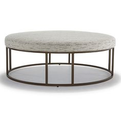CARMEN ROUND OTTOMAN<BR>[available online and in stores]