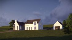 The proposed house is a modern representation of the traditional Irish vernacular form. The living block presents a narrow gable to the front whilst the bedroom block reads in union with this narrow form. House Designs Ireland, Farmhouse Renovation, Exterior Remodel, House Floor Plans, Modern Farmhouse, Building A House, Architecture Design, Donegal, New Homes