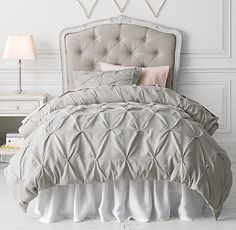 Pintucked Bow Duvet Cover