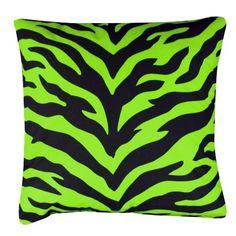 Zebra Cotton Throw Pillow