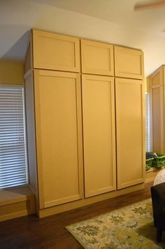 Home dzine how to build and assemble built in cupboards or the happy homebodies diy how to build a wall of closets from scratch solutioingenieria Choice Image