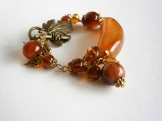 Agate Bracelet  Brown Bracelet Stone jewelry  by NataliStudio