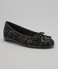 Take a look at this Black Debora Authorise Flat by The Flexx on #zulily today!