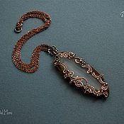 """Handmade Jewelry. Fair Masters - handmade Pendant """"White lake"""". Handmade."""