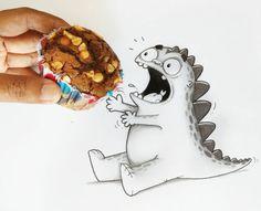 Drogo, el dinosaurio de las redes sociales #ilustración