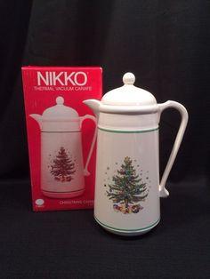 Nikko classic christmas thermal carafe in box nikko