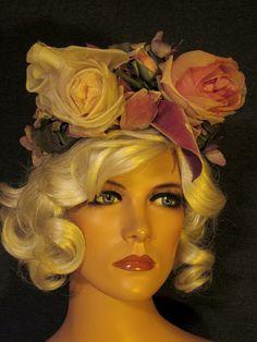 Vintage 1950's Floral Hat