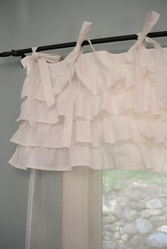 Ruffle curtain--Ooh! This is not what I was thinking, but it's super cute.
