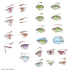 """The eyes have it  ! From hopeful to sad, angry to even aging eyes -- discover how you can tell a story with eyes alone in """"Make Manga!""""   #mangaart #mangatutorials"""