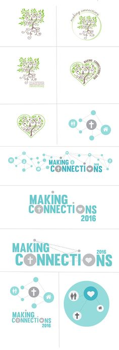 making connections sermon series church green tree blue internet concept art graphics logo organization handdrawn