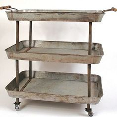 Metal 3-Tier Cart With Wheels 1