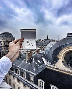 La vie ce n'est pas d'attendre que l'orage passe mais d'apprendre à danser sous la pluie !  Elyx en visite au @grandhoteldupalaisroyal  #Paris #GrandHotelDuPalaisRoyal #Rain