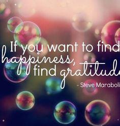 happiness = gratitude