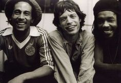 Bob Marley, Jagger and Peter Tosh