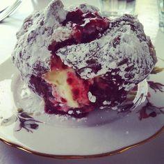 cream & jam donut from Little & Friday #NZ